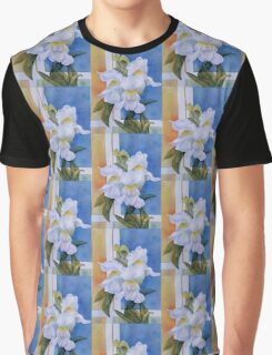 STATELY WHITE SNAPDRAGONS Graphic T-Shirt
