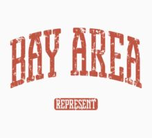 Bay Area Represent (Orange Print) Kids Tee