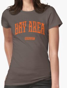 Bay Area Represent (Orange Print) Womens Fitted T-Shirt