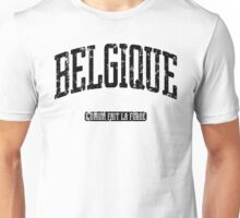 Belgique (Black Print) Unisex T-Shirt