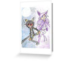 Umbreon and Espeon Greeting Card