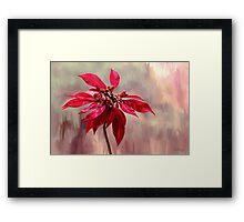 Poinsettia Painting Framed Print