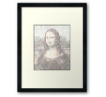 Mona Lisa Dots Framed Print