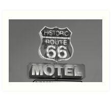 Route 66 motel sign Art Print