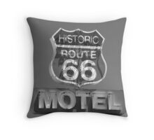 Route 66 motel sign Throw Pillow