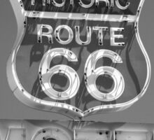 Route 66 motel sign Sticker