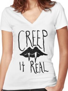 Creep It Real Women's Fitted V-Neck T-Shirt
