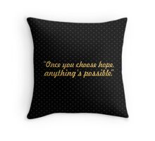 "Once you choose... ""Christopher Reeve"" Inspirational Quote Throw Pillow"
