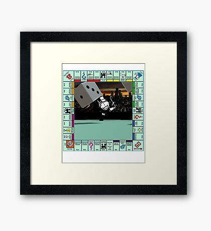 Monopoly Retro Game Board Framed Print