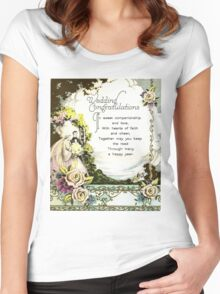 Vintage Wedding Floral Women's Fitted Scoop T-Shirt