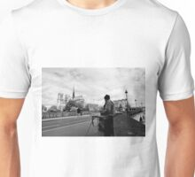 Artist at work - Notre Dame - Paris, France Unisex T-Shirt