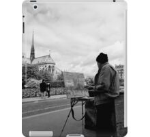 Artist at work - Notre Dame - Paris, France iPad Case/Skin