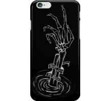 """Don't Let Me Drown"" Skeleton Hand (white on black) iPhone Case/Skin"
