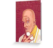 Vincent Price Egghead Greeting Card