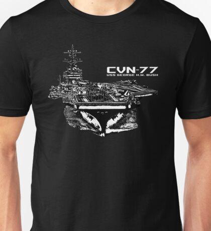 USS George H.W. Bush (CVN-77) Unisex T-Shirt