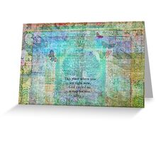 HAFIZ happiness quote Greeting Card