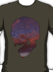 skull w/ some clouds behind T-Shirt