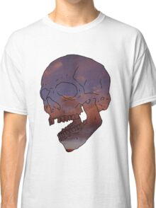 skull w/ some clouds behind Classic T-Shirt