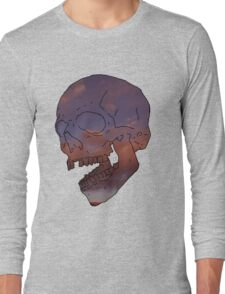 skull w/ some clouds behind Long Sleeve T-Shirt