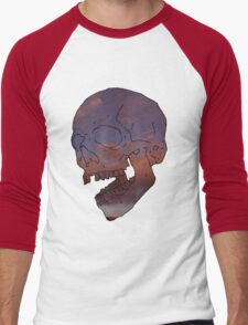 skull w/ some clouds behind Men's Baseball ¾ T-Shirt