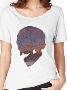 skull w/ some clouds behind Women's Relaxed Fit T-Shirt