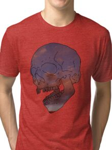skull w/ some clouds behind Tri-blend T-Shirt