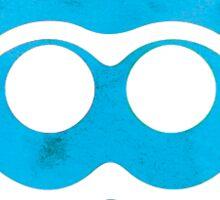 Blue Watercolor Squid Sticker