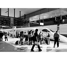 9:36 Shinkansen for Hayabusa - Tokyo, Japan Photographic Print