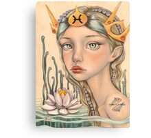 Pisces Girl Canvas Print