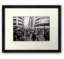 One in a crowd - Japan Framed Print