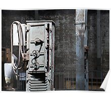 Grungy Old Warehouse Machinery Poster