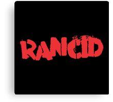 Rancid Logo Canvas Print
