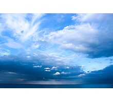 Blue Skies at Cober Hill Photographic Print