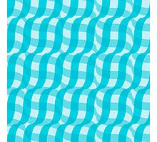3d illusion tablecloth pattern Photographic Print