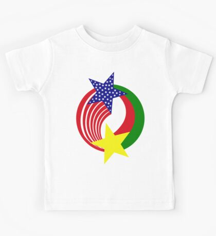 Burkina Faso American Multinational Patriot Flag 2.0 Kids Tee