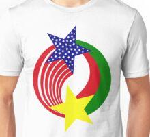 Burkina Faso American Multinational Patriot Flag 2.0 Unisex T-Shirt