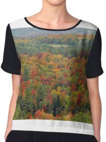 Fall landscape Chiffon Top