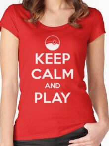 Keep calm and play!! Women's Fitted Scoop T-Shirt