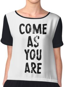 Come As You Are Chiffon Top