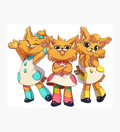 Bubsy Reboot - The Three Little Kittens Photographic Print