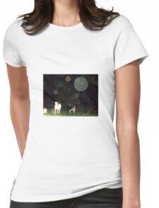 Some Folks Think That These Orbs Are Not There Womens Fitted T-Shirt