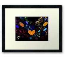 Beating Hearts Framed Print