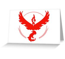 Pokemon Go Team Valor Logo Greeting Card