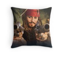 Johnny Depp Pirate Throw Pillow