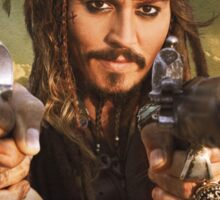 Johnny Depp Pirate Sticker