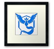 Pokemon Go Team Mystic Logo Framed Print