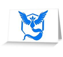 Pokemon Go Team Mystic Logo Greeting Card