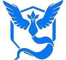 Pokemon Go Team Mystic Logo Photographic Print