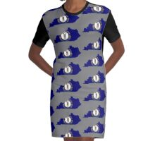 kentucky Graphic T-Shirt Dress