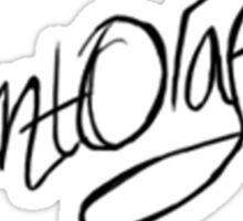 Count Olaf signature shirt Sticker